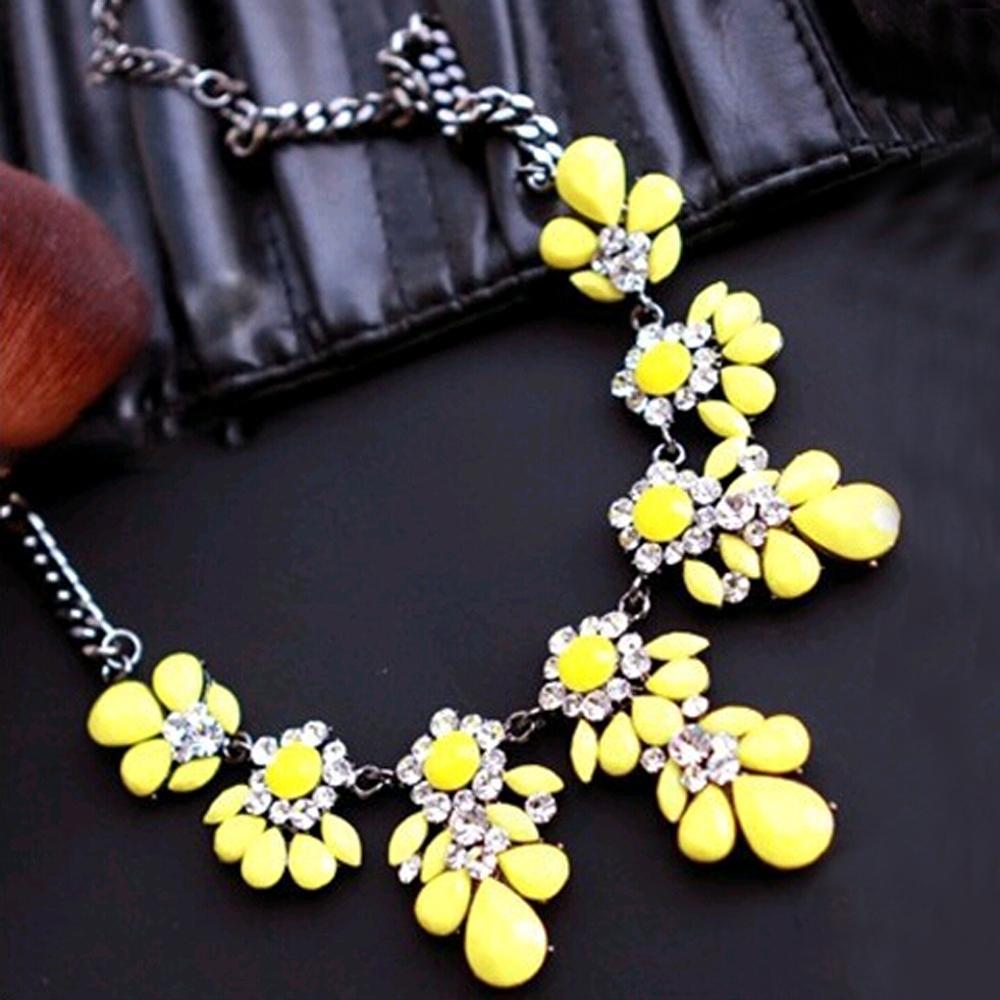 2015 New High quality fashion gift gold necklace chain Shourouk Vintage Rhinestone Bib necklaces women statement jewelry(China (Mainland))
