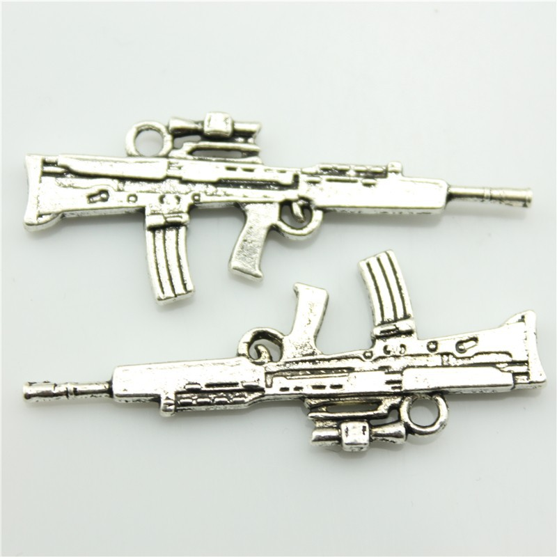 2014 New Fashion Hot Sale 20pcs Machine guns charms antique silver tone pendant B10685.jpg(China (Mainland))