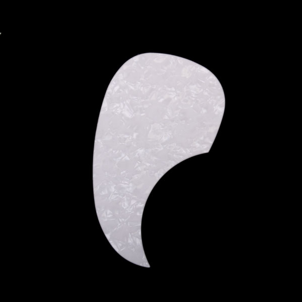 White Pearl Color Comma Shell Self-sticking Pickguard for Acoustic Guitar(China (Mainland))
