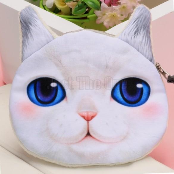 2015 hot fashion Animal face prints Zipper Closure Coin purse designer wallets women wallet Makeup Bag Pouch 54(China (Mainland))