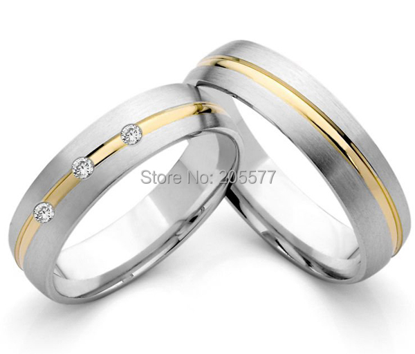 germany style 18k gold plating inlay titanium stainless