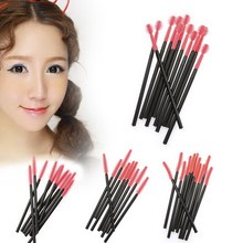 50pcs Makeup Cosmetic Disposable Eyelash Brush Mascara Wand Applicator Kit(China (Mainland))