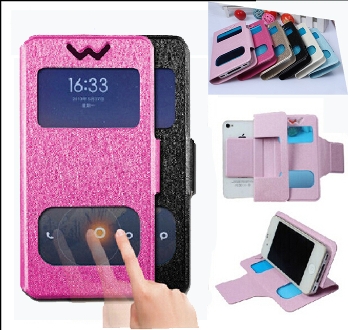 """In Stock ! Flip PU Leather Case Cover For Prestigio Grace X3 PSP3455 DUO 4.5"""" Android Phone Free Shipping(China (Mainland))"""