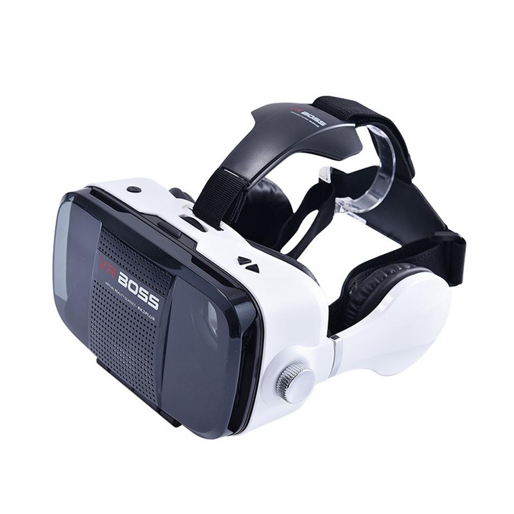 ถูก 3D VRแว่นตาชุดหูฟังกล่องความจริงเสมือนG Oogleกระดาษแข็งสำหรับiOS 6 6วินาที6บวกซัมซุงS6สำหรับAndroidปรับเลนส์VR BOSS Z5