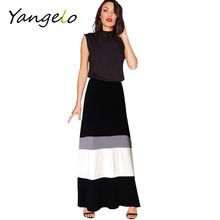 women long skirt striped Elasticity skirts women excellent quality knitting Mixed colors Cozy Slim skirt S-XXL(China (Mainland))