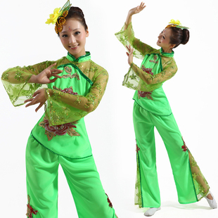 Green street clothes stage clothes modern dance clothes costume(China (Mainland))