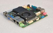 QOTOM Mini ITX Motherboard with Core i3-3217U processor onboard, 12 x 12 cm, Dual NIC Port, support Win xp/7/8/10/Linux(China (Mainland))