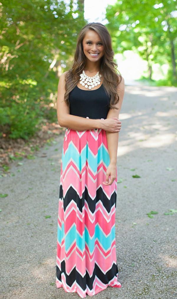 robe longue coloree grande taille - Robe Longue Colore