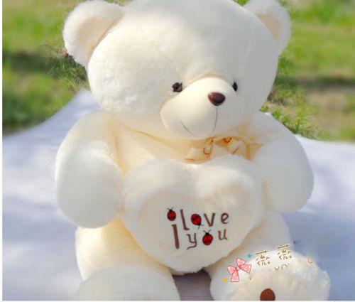 BG lovely PLUSH BEETLE LOVE HEART stuffed animals yellow TEDDY BEAR 90cm love n162(China (Mainland))