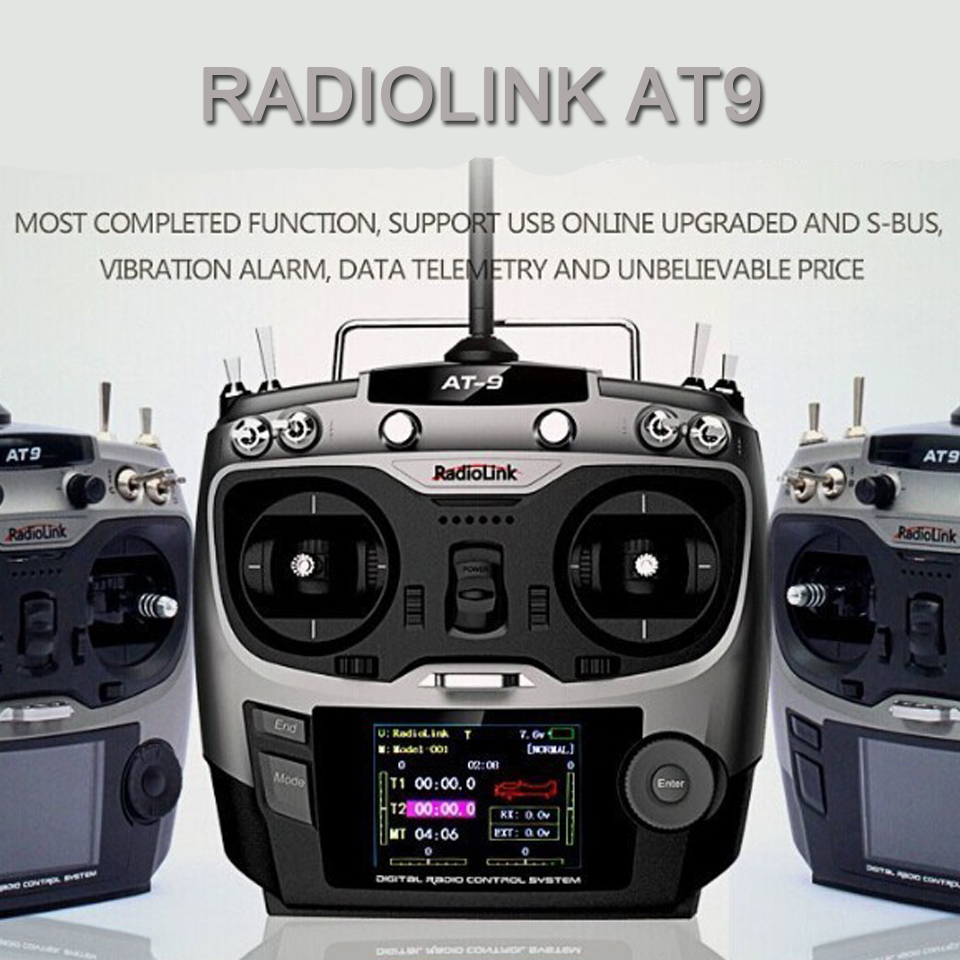 5pcs/lot DIY Drone Remote Control RadioLink AT9 With MiniOSD 2.4G 9ch Transmitter &amp; Receiver TX + RX For Quadcopter Helicopter<br><br>Aliexpress