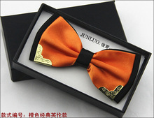 Hot Sale New Fashion Business Bow Ties for Men Groom Wedding Metal Bow Tie Wholesale Colorful Accessories Necktie Men