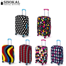 Travel On Road Luggage Cover Luggage Protector Suitcase Protective Covers for Trolley Case Trunk Case Apply to 18-30 inch(China (Mainland))