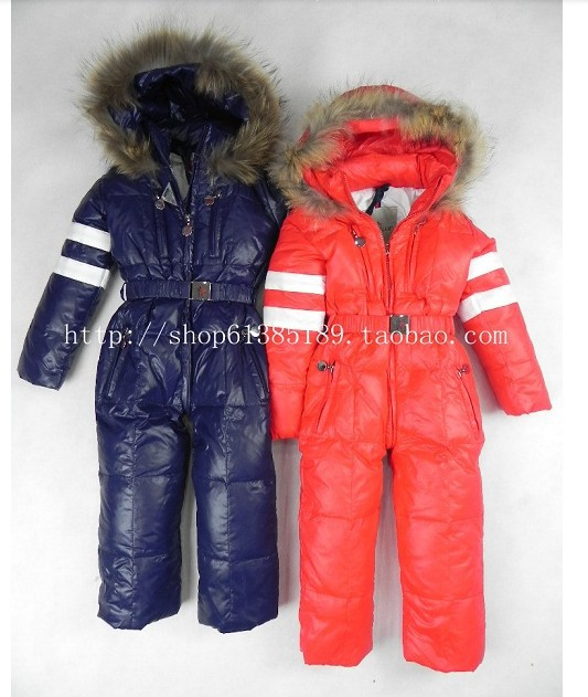 Free shipping Retail Children's clothing mo cl for er male female child one piece bodysuit romper down coat fashion(China (Mainland))