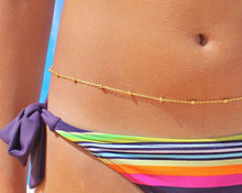 C0066 Europe Trade hot new sexy bikinis textured waist chain is simple one copper beads and
