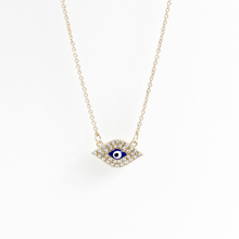 Fashion accessories full rhinestone necklace&Evil eye Oil droplets with necklace(China (Mainland))