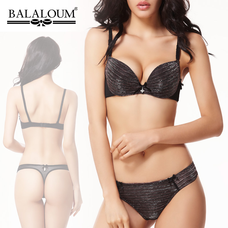 9232 New Bra & Brief Sets Fashion balaloum thin thick underwear women's push up bra BC Cup size 32B 34B 36B 38B 32C 34C 36C 38C(China (Mainland))