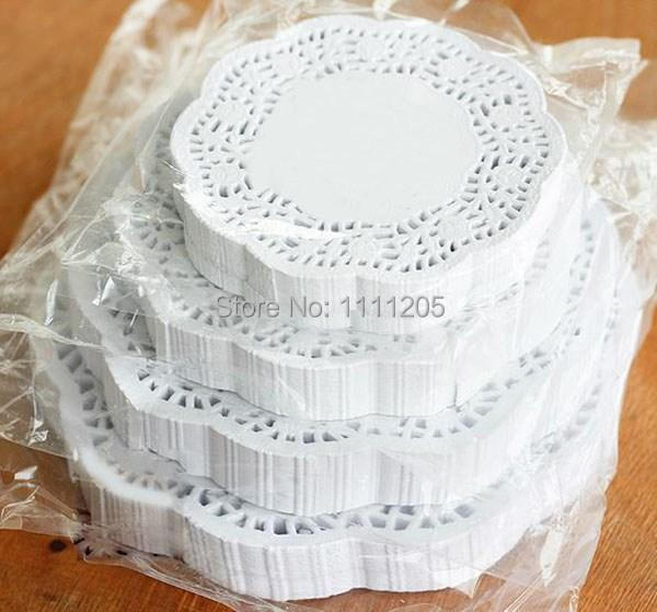 200pc 10.5 inch Wedding Paper Lace Doilies Wedding rose White Round Christmas frozen Coasters Placemat Craft Table Decoration(China (Mainland))