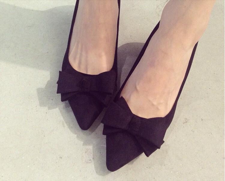 Осенняя мода женщин обувь ботинки высокой пятки высокого качества bowtie женщин указал обувь