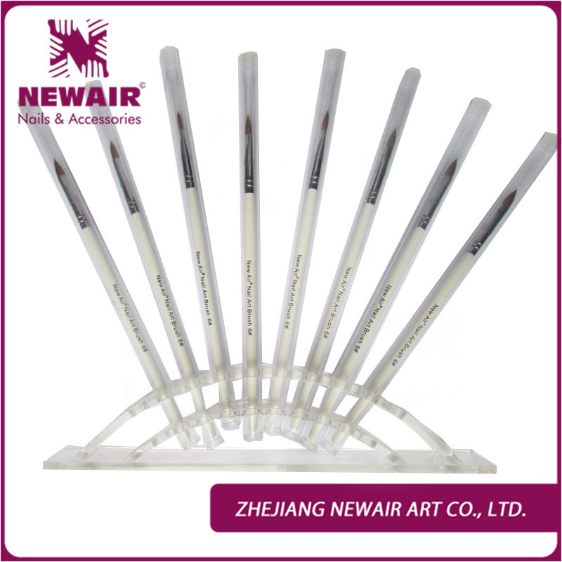 On sale 3pcs decorations acrylic nail ar brush set tools for Acrylic nail decoration supplies