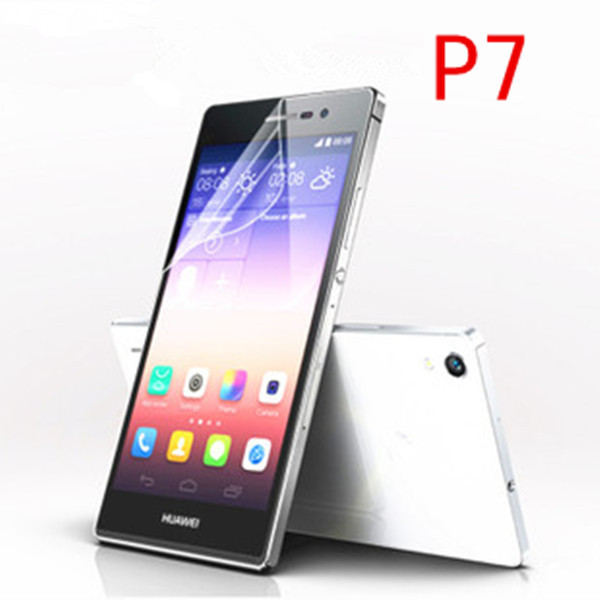 Front Anti-Glare Frosted Screen Protector for Huawei Ascend P7 Body Matte Screen Guard for Huawei Ascend P7 Protective Film(China (Mainland))