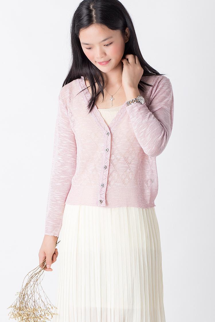 2015 New Linen Cardigans soft Womens' V-Neck Knitted Sweater - Tara's Shop store