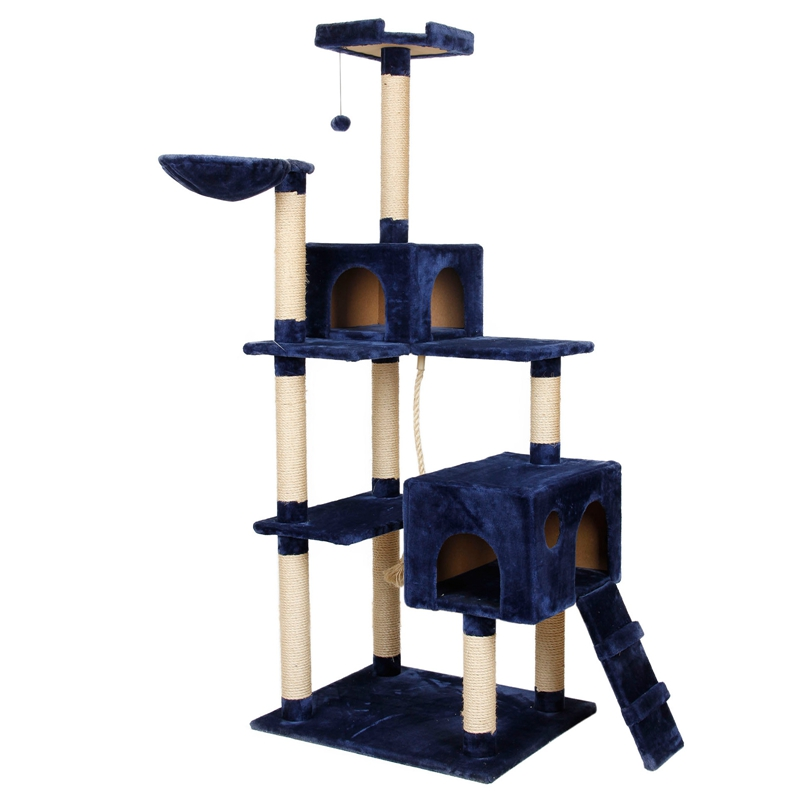 US Fast Shipping Cat Furniture H 182 New Design Kitten House Climbing Frame Scratching Post Cat Jumping Training Product(China (Mainland))