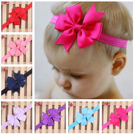 2015 New Christmas Gifts Baby Bow Headband Hair Bowknot Headbands Infant Hair Accessories Girls Bow Headband Toddler hair bands(China (Mainland))