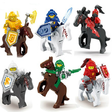 Buy 2016 New 6pcs Knights Horses Figures Mini Clay Macy Aaron Jestro Blocks Action Figure Toys Compatible Nexus for $8.63 in AliExpress store