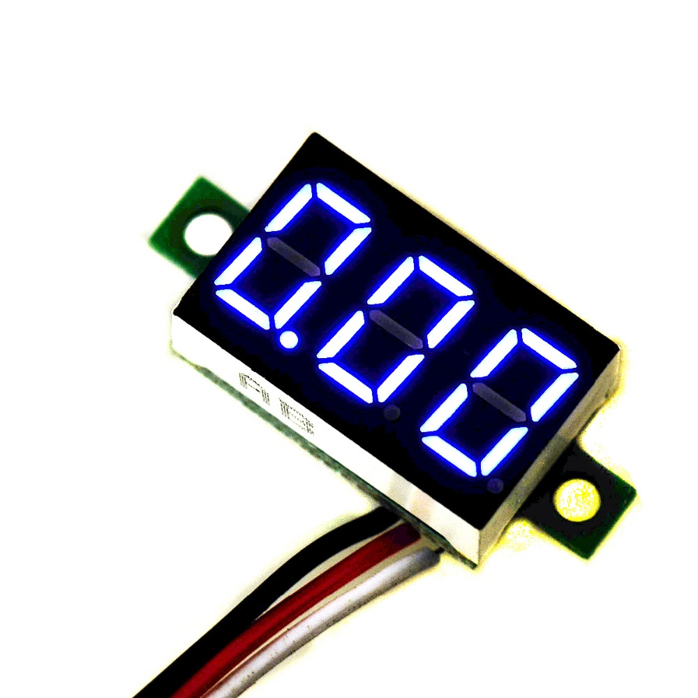 1 PC Top Quality Mini DC 0.1-30V Blue LED Display Digital Voltage Voltmeter Panel Car Motorcycle VE435 P50(China (Mainland))