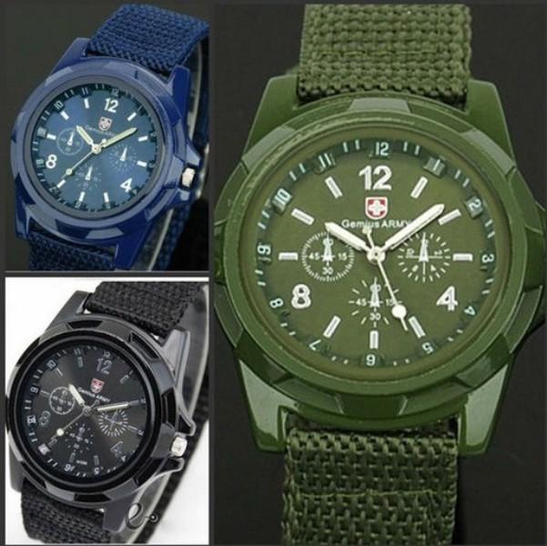 New Solider Military Army Men's Sport Style Canvas Belt Luminous Quartz Wrist Watch Free Shipping(China (Mainland))