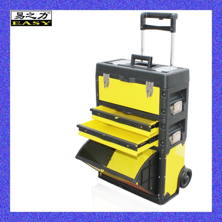 Yi Li Tie tool cart tool cabinet metal toolbox toolbox triple modular trolley case(China (Mainland))