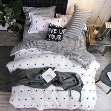 Bedding Set luxury Wishing star month 3/4pcs Family Set Duvet Cover Pillowcase Boy Room flat bed sheet,No filler 2019 bed set(China)