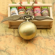 Novelty Design Angel Wings Pocket Watch New Fashion Men Women Vintage Style Necklace Watches(China (Mainland))