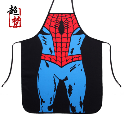 Tablier Cuisine Delantal Aprons For Woman [super] A Superman Spiderman Super Hero Sleeveless Bar Years Funny Personality Apron(China (Mainland))