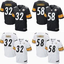 Men Pittsburgh Steelers #84 Brown #7 Ben Roethlisberger 32# Franco Harris,58# Lambert black white #26 LeVeon Bell,camouflage(China (Mainland))