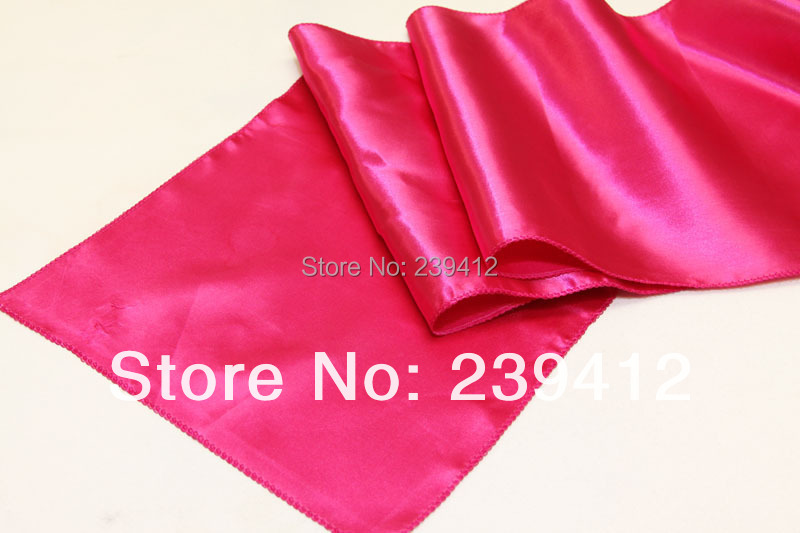 20pcs Fuchsia Pink Runner for Weddings Events,,Satin Table Runner for Weddings Events &Banquet &Party Decoration(China (Mainland))