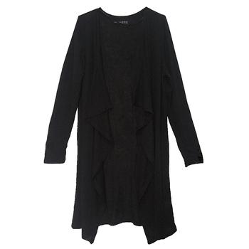 Кардиган женщин свободного покроя сладкий серый черный крючком вязаная кофточка с длинными рукавами девушку с кардиганы куртки пальто и пиджаки топы