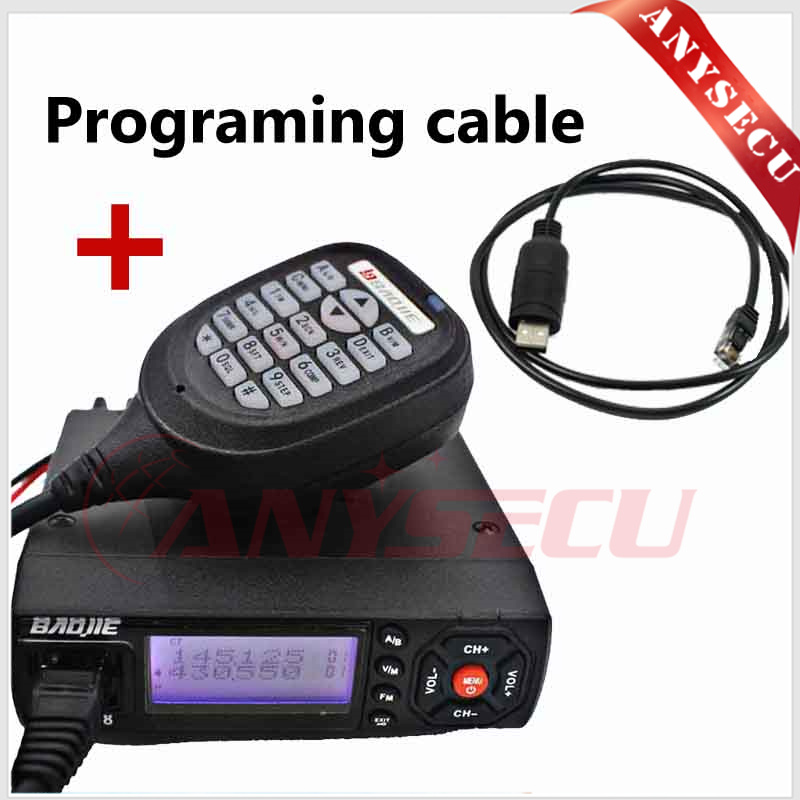 Hot Selling 25W Output Power Mini Mobile Radio BJ-218 VHF/UHF 136-174/400-470MHz Ham Radio for Car Bus Taxi with USB cable(China (Mainland))