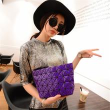 Japanese Famous Brand Summer Metallic Quilted Handbag Folding Bag Messenger Bag Chain Bag Plaid Fashion Brand Bag(China (Mainland))