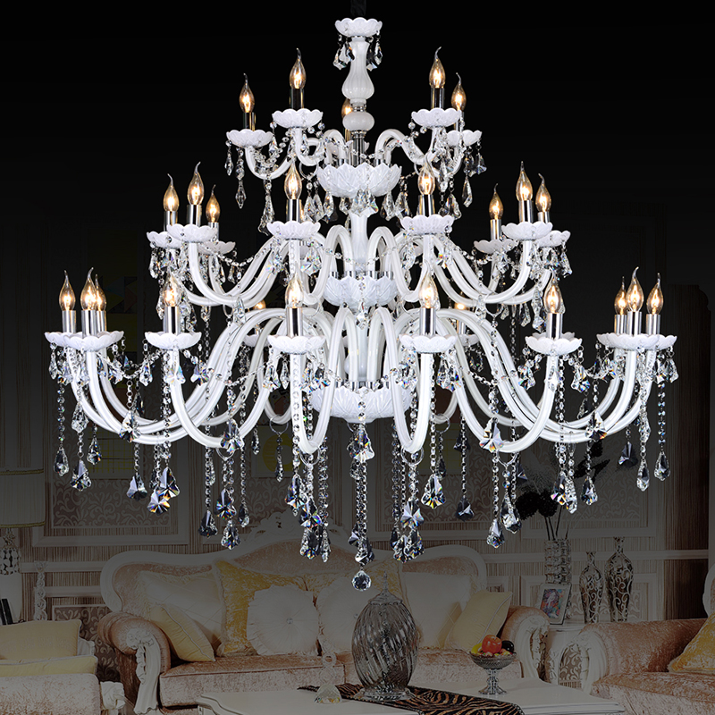 crystal large chandeliers contemporary lampshades 30 antique brass kristall kronleuchter bohemian crystal chandelier 18 lighting(China (Mainland))