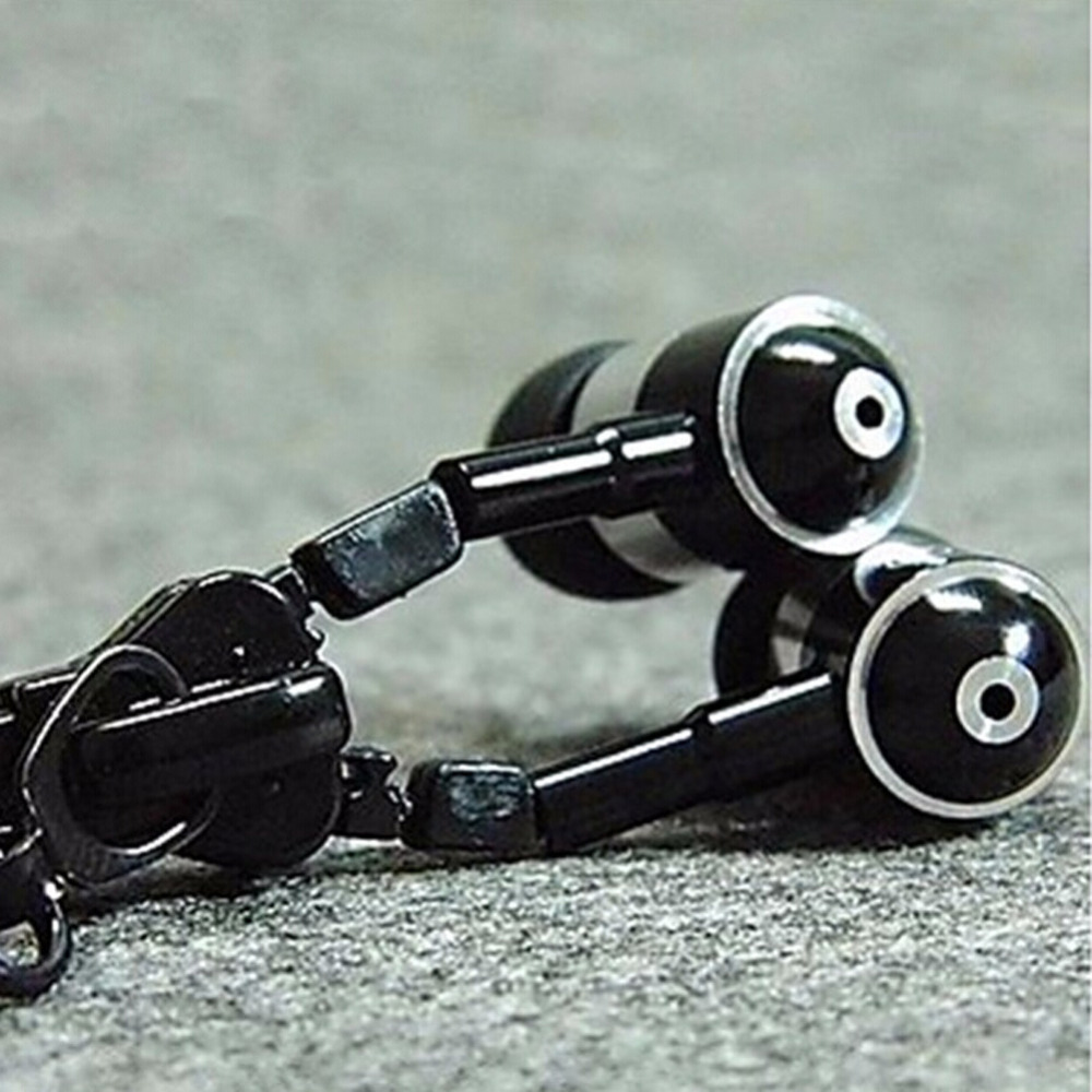 In Ear ZipBud Stereo Earbud Zipper Earphone with Mic