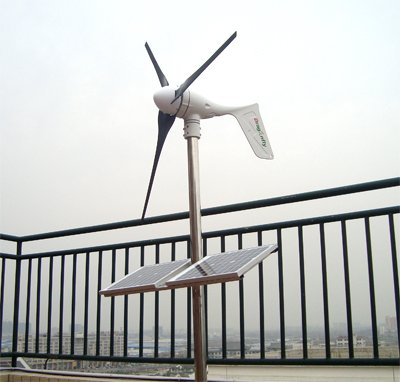 CE,Russia,RoHS approved Off grid 1000W wind solar hybrid power system!(China (Mainland))