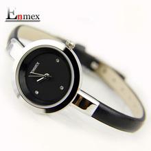 2016 festival Memorial Day gift Enmex women creative slim strap wristwatch brief design elegance fashion quartz lady watches(China (Mainland))
