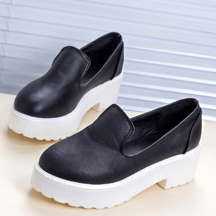 Women single shoes med heels 2015 lady fashion height increasing flat platform loafers autumn - Don't even think about it store