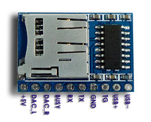 5PCS/Lot Mini MP3 Player Module for Arduino UNO(Same Serial Commands as DFplayer Mini)
