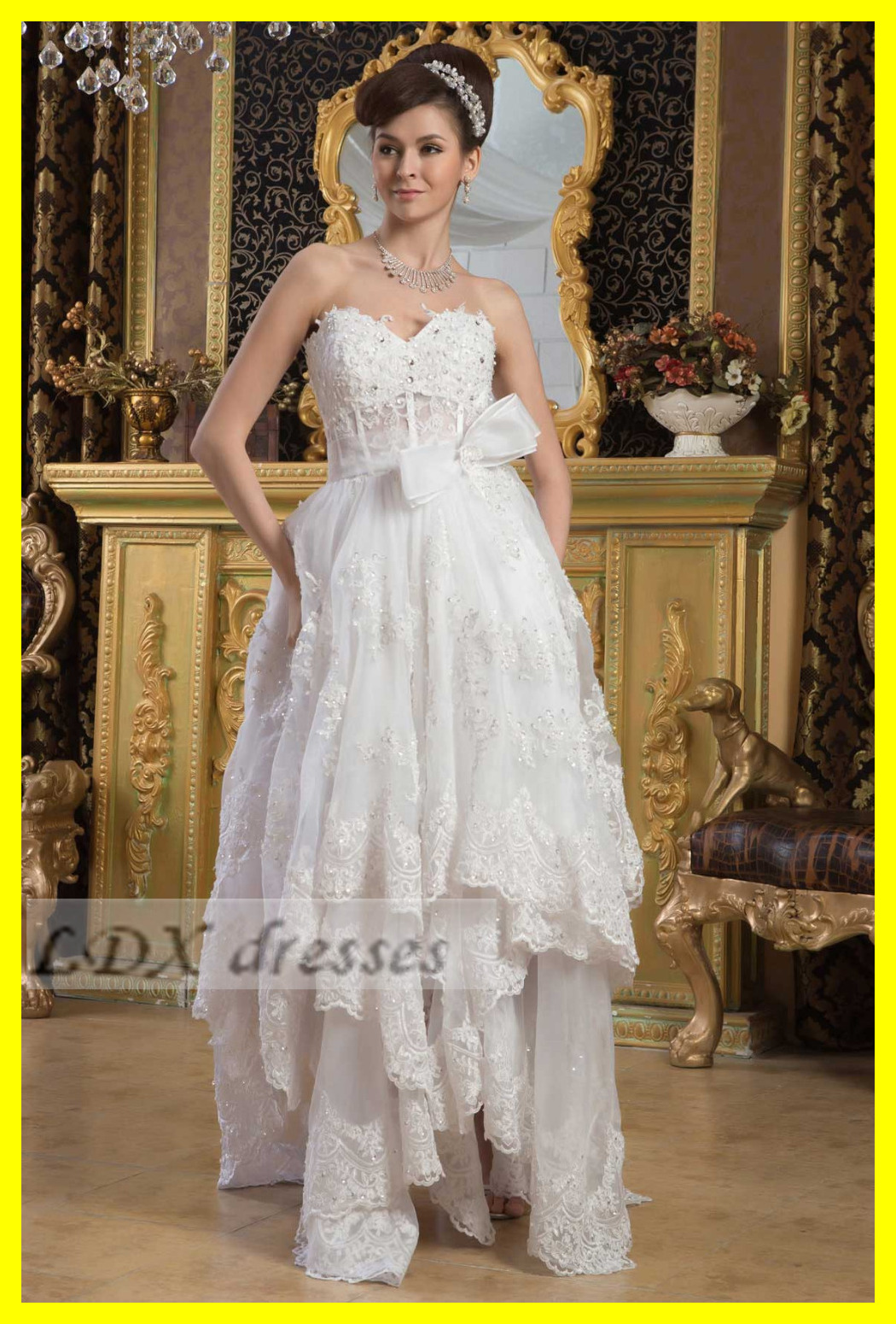Off White Wedding Dresses Casual Beach Dress Baby Weddings A-Line Floor-Length None Appliques Sweetheart Off The S 2015 Discount(China (Mainland))