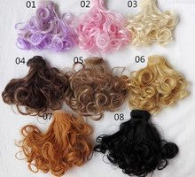 15cm*100cm Dolls Accessories Black / brown / milk gold wigs/hair for 1/3 1/4 BJD diy(China (Mainland))
