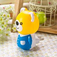Hot Sell Cute Bear Night Light For Kids EU/US Plug Romantic Colorful Sensor LED 3D Night Light  Bedroom Lamps 10Pcs/lot RM009