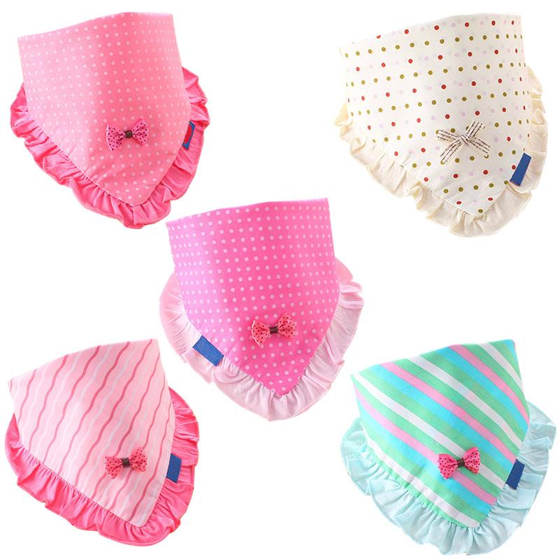 High Quality Baby Girls Bibs Toddler Bandana Triangle Head Scarf Cute Saliva Towel Cotton For Baby Bandana Bibs VCH93 P30(China (Mainland))