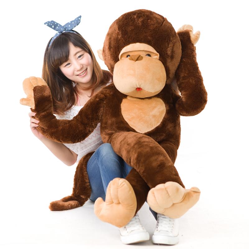 Free Shipping Stuffed Monkey Plush Toy 1pcs Stuffed animals Giant Monkey Valentine Gift For friend best gift(China (Mainland))